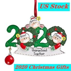 2020 Christmas Hanging Ornament Family Xmas tree Mask Toilet Paper Gift US xmas