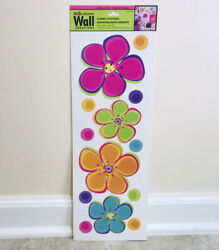 Main Street Wall Creations FLOWERS WALL ART STICKERS DECALS SELF ADHESIVE $8.46