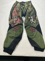LNWOT Fox Motocross Pants Olive Pink Womens 3 4 $48.00