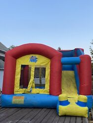 commercial grade bounce house with slide