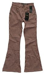 Lee Vintage Modern Nwt High Rise Houndstooth Flare Free People Jeans 3534793 $59.99