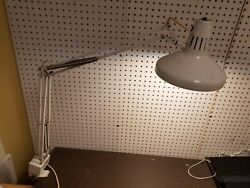 Jewelers Desk Lamp Swing Arm Clamp Lamp Dual Light incandescent and flourescent $149.00