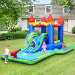 Inflatable Kids Castle Bouncer Bounce House Slide Water Park BallPit w Blower $339.49