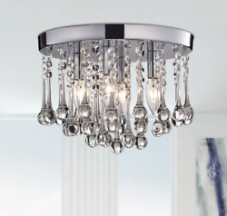 Small Chandelier Entryway Lighting Hallway Flush Mount Lights Bedroom Fixture $166.98