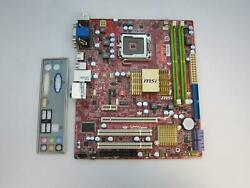 MSI Motherboard G41TM E43 MS 7592 No CPU $30.00