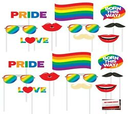 Rainbow Pride Love 20 pcs Party Photo Booth Props Plus Party Planning Chec... $17.81