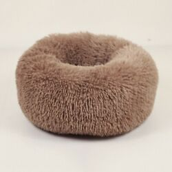 Donut Plush Pet Dogs Cats Bed Fluffy Soft Warm Calming Bed Sleeping Kennel Nest $10.99