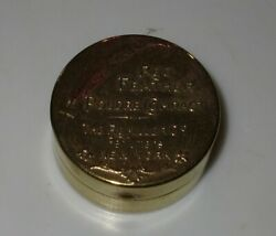 Rare Vintage Brass Art Nouveau Red Feather Compact Remiller Perfumers New York $19.99