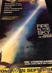 fire in the sky promo poster excellent minor tear 1 8 quot; $49.99