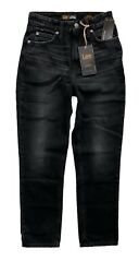 Lee Vintage Modern Nwt Washed Black High Rise Straight Leg Ankle Jeans 3530902 $44.99