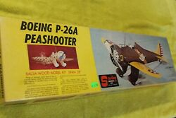 Sterling Models Boeing P 26A Peashooter Balsa Plane Kit Rare 28quot; $95.00