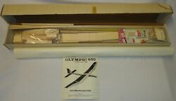 Vintage Airtronics Olympic 650 RC Sailplane Airplane Glider Balsa Kit NIB $139.95