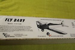 Davey Systems Fly Baby Balsa Plane Kit 40quot; Vintage $145.00