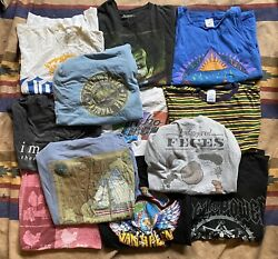 Lot of 12 Mens T Shirt Size Large Lot Vintage New Mix Reseller Collector $64.99