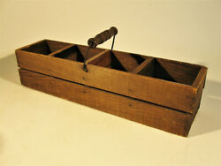 Unusual Antique Wooden Carry Box With Bail And Wooden Handle Eggs? $24.00