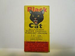 RARE VINTAGE BLACK CAT SUPER CHARGED FLASHLIGHT CRACKERS FIRECRACKERS BOX $20.00
