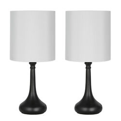 Set of 2 Modern Table Lamp Bedside Desk Lamp Small Nightstand Lamps Bedroom Gift $29.60