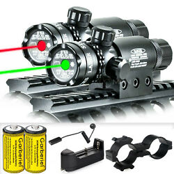 Tactical Green Red Laser Sight Rifle Dot Scope Switch Rail Mounts Hunting US $17.95