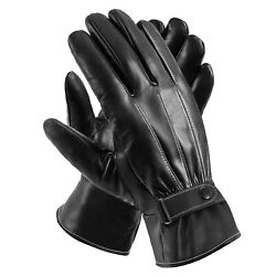 Men Women Winter Gloves Touch Screen Windproof Waterproof Leather Thick Snow $6.55