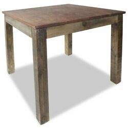 Vintage Dining Table 32.3quot; Solid Reclaimed Wood Rustic Room Stand Deck Couch $243.12