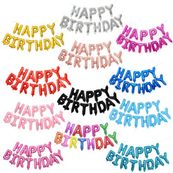 Happy Birthday Banner Balloon 16#x27;#x27; Foil Letters Inflatable Party Decorations $7.99