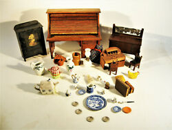 Estate Lot Of Antique Doll House Accessories $38.00