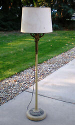 Antique Floor Lamp 1940#x27;s or #x27;50#x27;s with Shade $42.00