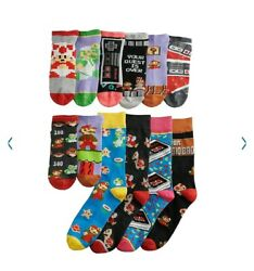 RETRO Nintendo NES Super Mario Socks 3 Pack Set NES Box Brand New 12 Socks $29.89
