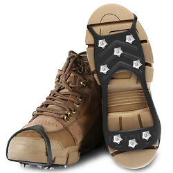 Ice Snow Anti Slip Spikes Grips Grippers Crampon Cleats For Shoes Boot Overshoe $10.59