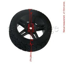 4PCS Black RC Wheel Rims amp; Tyres Replacemnt For Damaged or Old RC Car $14.80