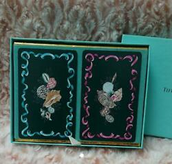 Tiffany Playing Card set Novelty for Royal Customers Promo Unused w Box $59.99