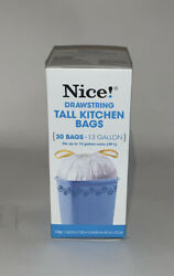 Nice Drawstring 30 Tall Kitchen Bags 13 Gallon $10.00