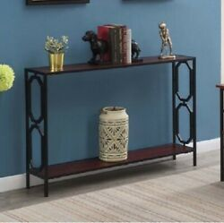Contemporary Console Table Narrow Entry Hall Living Room Storage Display Shelf $132.76
