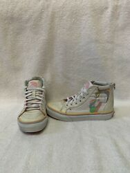 Vans Off The Wall Girls Glitter unicorn Hightop Shoes size 1.5 Y $18.00