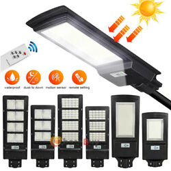 900000LM Commercial LED Solar Street Light IP67 Dusk Dawn Road LampRemotePole