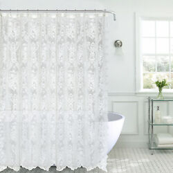 Kate Aurora Country Farmhouse Shabby Chic Lace Shower Curtain Assorted Colors $23.99