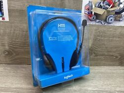 ✅ Logitech H111 3.5 mm Noise Cancelling Wired Headset With Mic Gaming for PC MAC $19.95