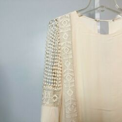 ASTR the Label Nordstrom Size XS Dress Ivory Long Keyhole Back Crochet Detail $19.99