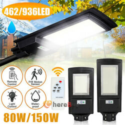 90000LM 150W LED Commercial Solar LED Street Light IP67 Dusk to DawnRemotePole