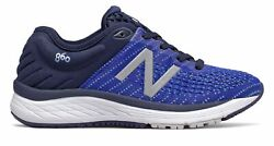 New Balance Kid#x27;s 860v10 Big Kids Male Shoes Navy with Blue amp; Blue $27.90