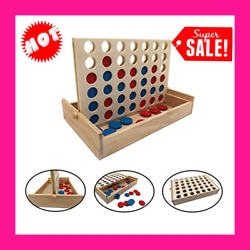 Connect 4 Large Outdoor Games Yard Big Huge Four Lawn Wooden Jumbo Game $15.99