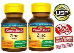 Nature Made Vitamin Zinc 30 Mg Lot Of 2 Total 200 Tablets Ex 09 24 $16.88