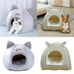 Pet Cat Dog Beds Nest Puppy Sleeping Cushion Cave Plush Warm Kennel House Tents $17.41