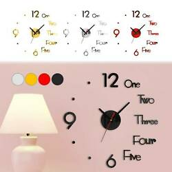 3D Modern DIY Large Number Mirror Wall Sticker Big Watch Home Decor Art Clock US $5.39