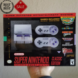US Super Nintendo Entertainment System Classic SNES Mini Edition 21 Games NEW $140.00