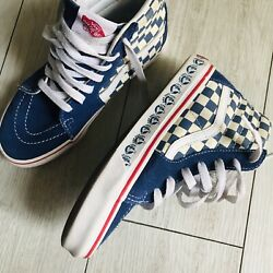Vans Off The Wall Boys 2.5 High Top Check board NEW $25.00