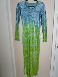 PEOPLE Of The LABYRINTHS Long Velvet Maxi DRESS $175.00