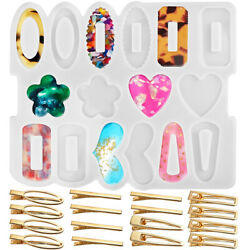 Silicone Resin Epoxy Molds DIY Hair Pin Clip Jewelry Casting Mold for Pendant $8.99