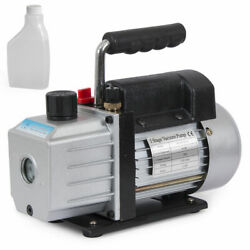 Single Stage 4CFM 1 3HP Rotary Vane Deep Vacuum Pump HVAC AC Air tool R410a R134 $39.99