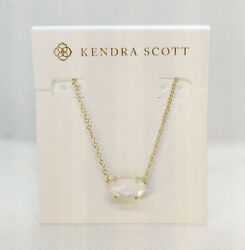 Kendra Scott Ever Pendant Necklace In Ivory Pearl Gold $29.85